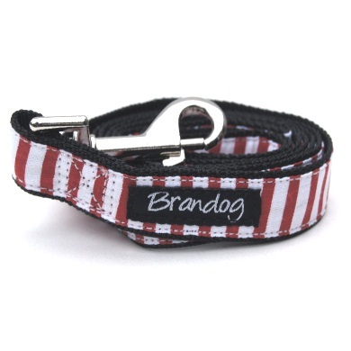 """Captain Pooch"" Nautical THICK Stripe Dog Harness (Red)"