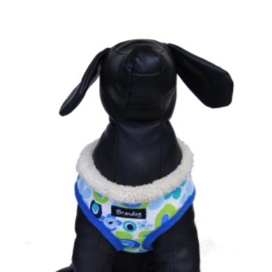 """Retro Pooch"" Dog Harness (Blue)"