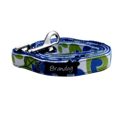 """Retro Pooch"" Dog Leash (Blue)"
