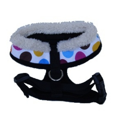 """Retro Pooch"" Circles Dog Harness (Rainbow)"