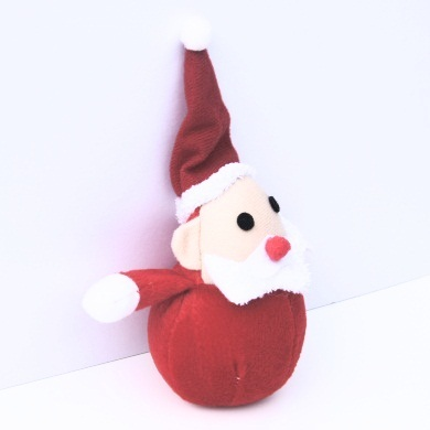 """Santa Paws"" Plush Tennis Ball Dog Chew Toy"