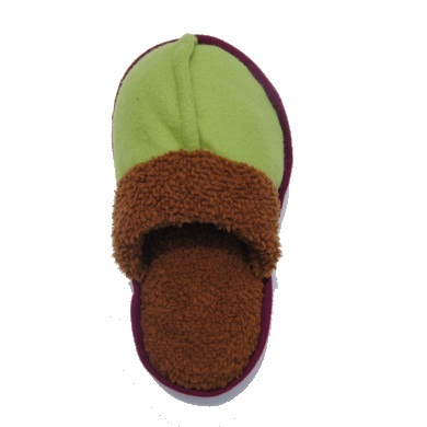 """Big Foot"" Plush Dog Toy (Green)"