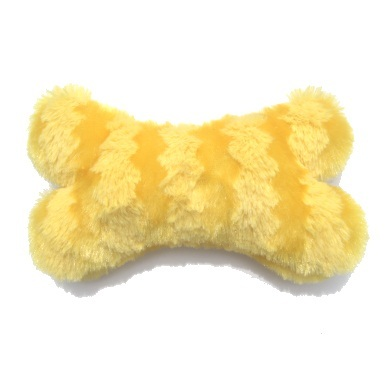 """Boner"" Plush Dog Toy (Yellow)"