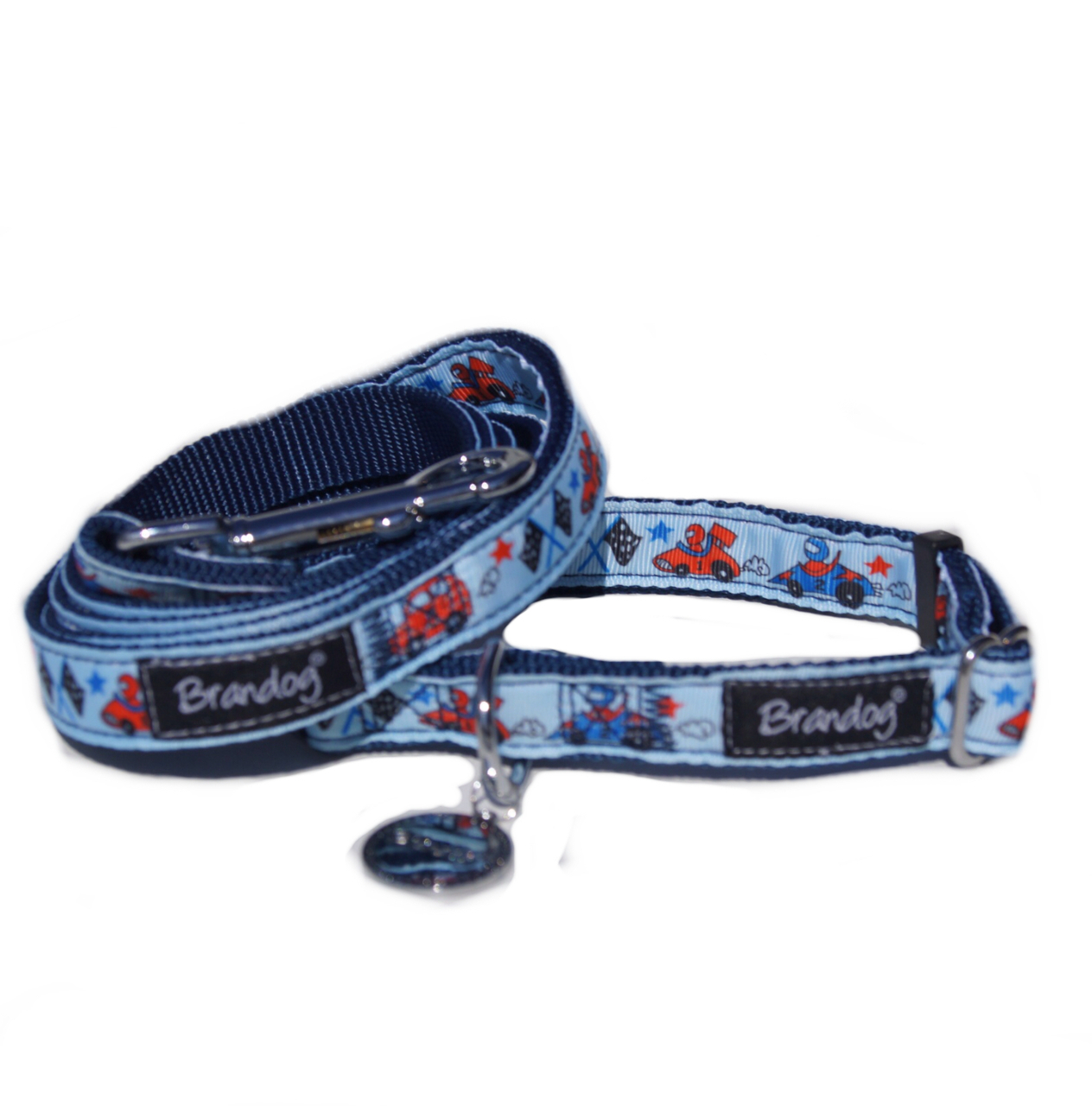 Brandog ''Beep Beep'' Collar + Leash Set