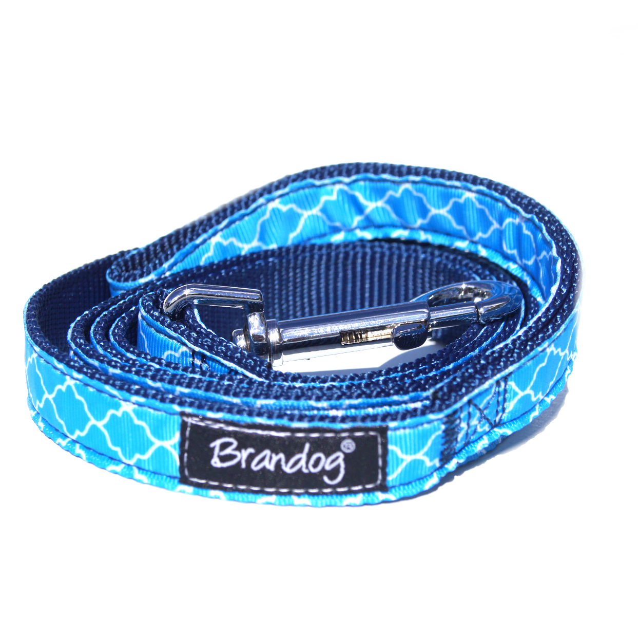 "Brandog ""Moroccan Blue"" Collar + Leash Set"