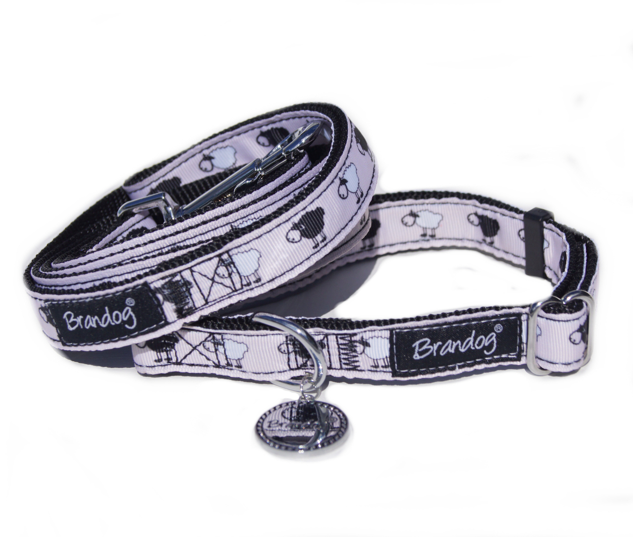 Brandog ''Black Sheep'' Collar + Leash Set