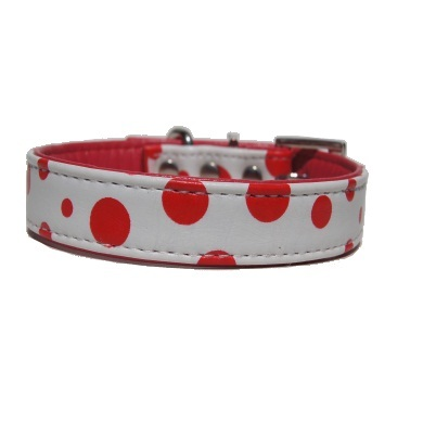 """Spunciel"" PU Leather Dog Collar (Red)"