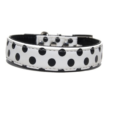 """Spunciel"" PU Leather Dog Collar (Black)"
