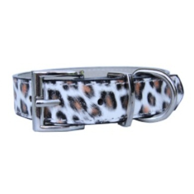 """Exotica"" PU Leather Dog Collar (White)"