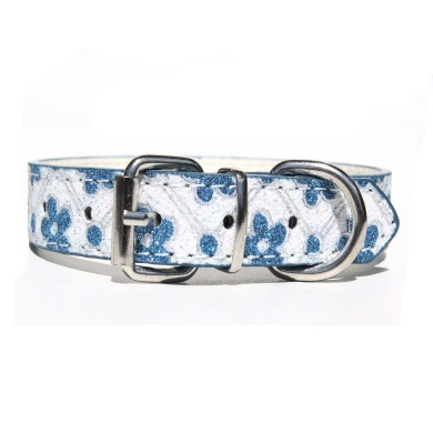 """Sparky"" PU Leather Dog Collar (Blue)"