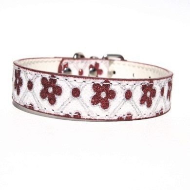 """Sparky"" PU Leather Dog Collar (Red)"