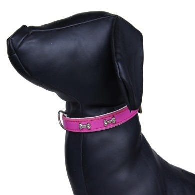 """Brando"" Double Leather Dog Leash (Hot Pink)"