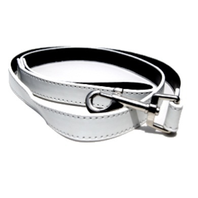 """Weaver"" PU Leather Dog Leash (White)"