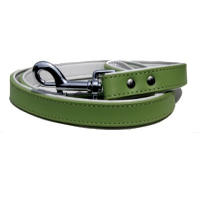 """""""Sprout"""" PU Leather Dog Collar + Leash Set (White)"""