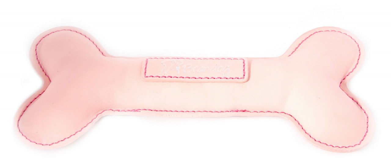 """BoBo"" PU Leather Dog Chew Toy (Light Pink)"