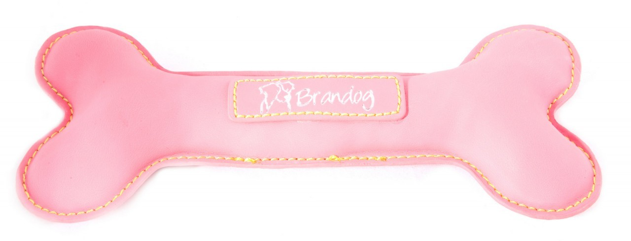 """BoBo"" PU Leather Dog Chew Toy (Dark Pink)"